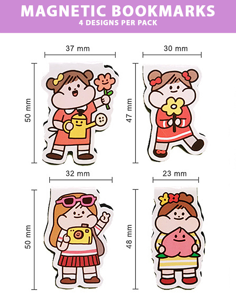 Meatball Magnetic Bookmarks: Girls