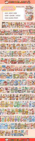 Meatball Washi Tape: Foods and Drinks