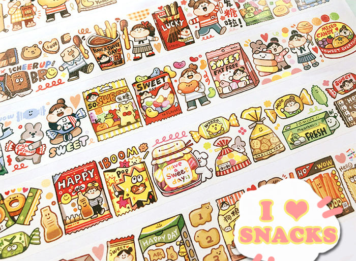 Meatball Washi Tape: I Love Snacks