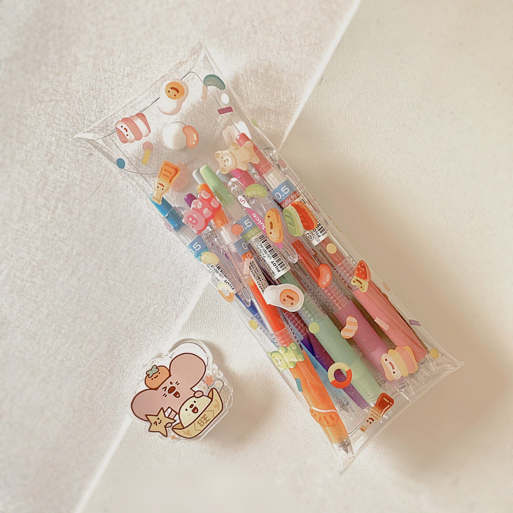 Meatball Series Clear Pencil Bag