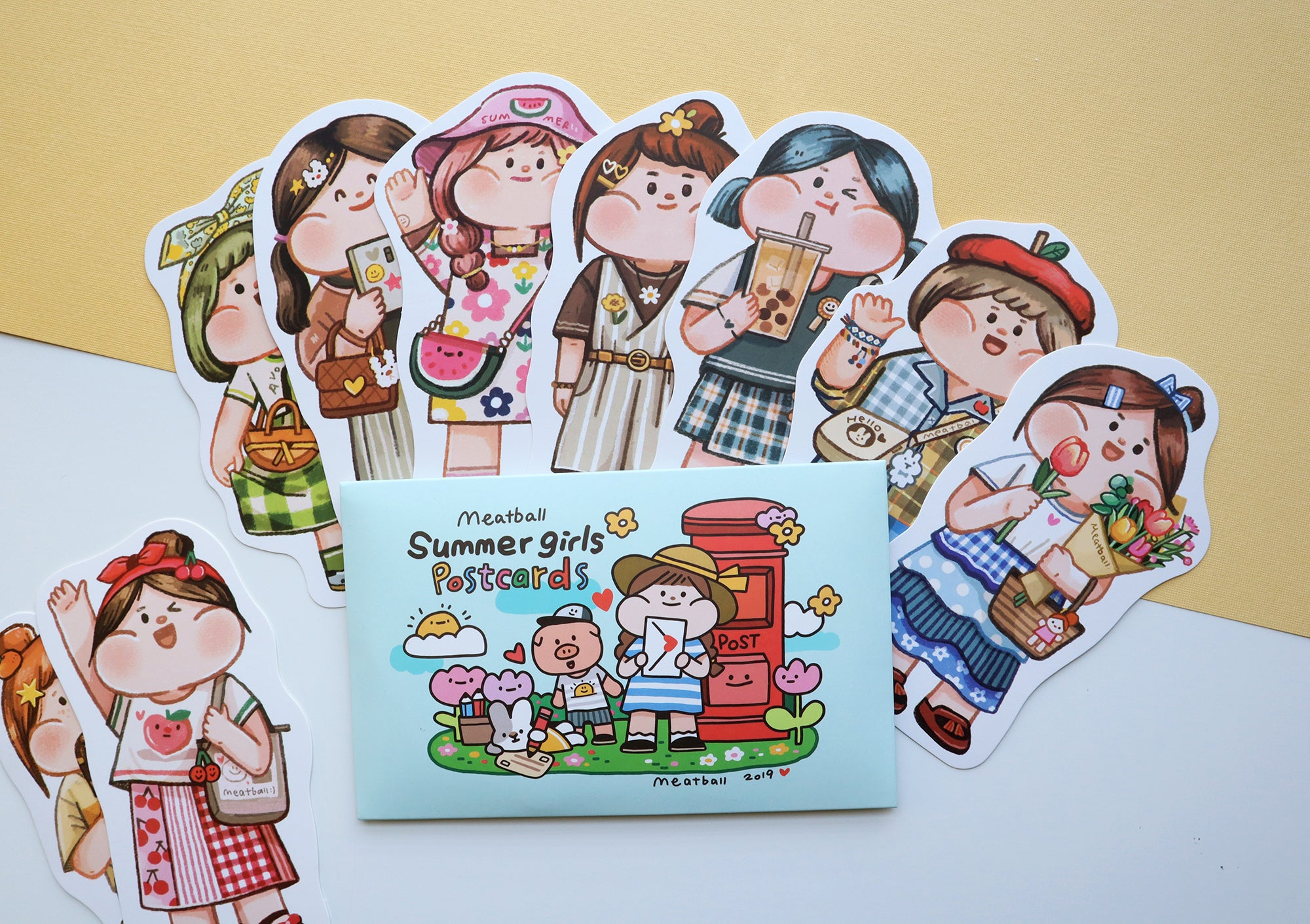 Meatball Postcard Set: Summer Girls