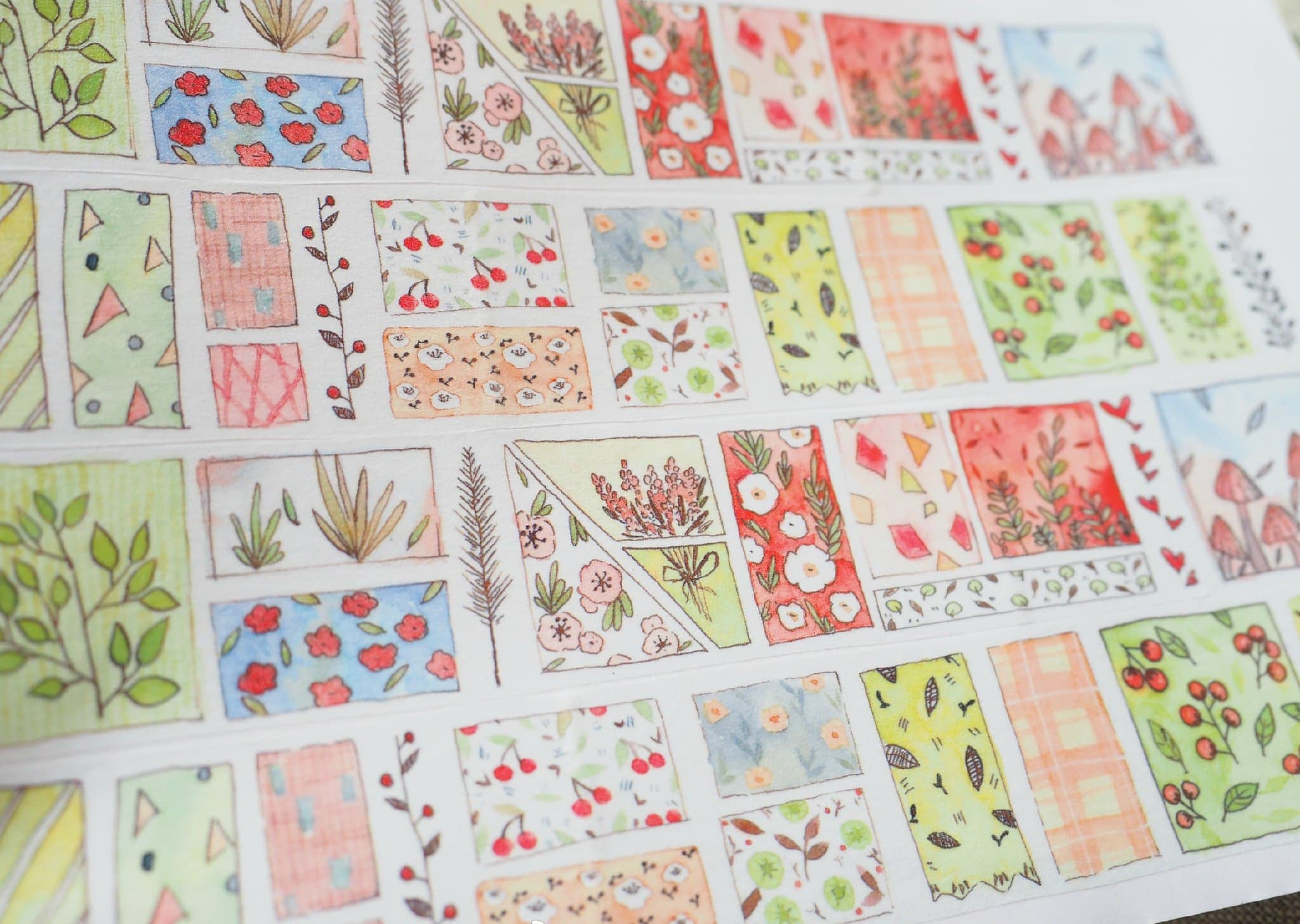 Nature Motifs Washi Tape Roll