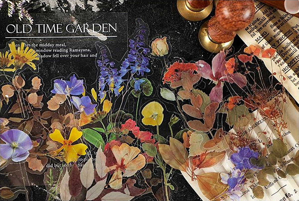 Old Time Garden Clear Stickers