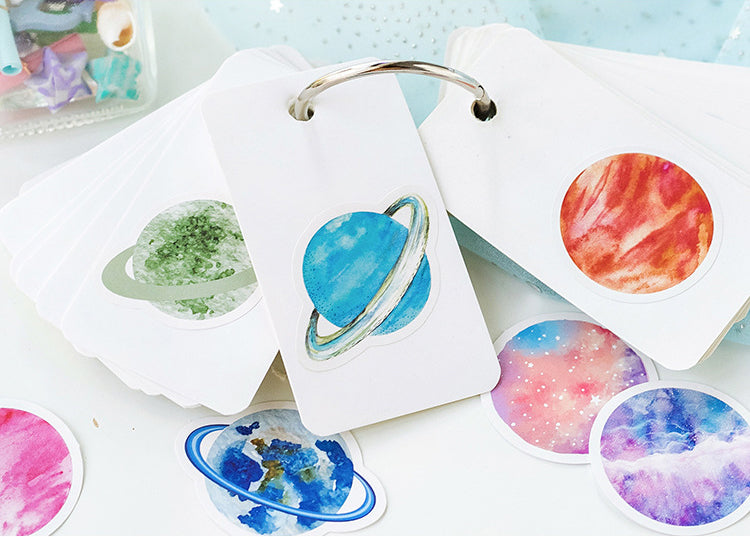 Planets Box Sticker Set