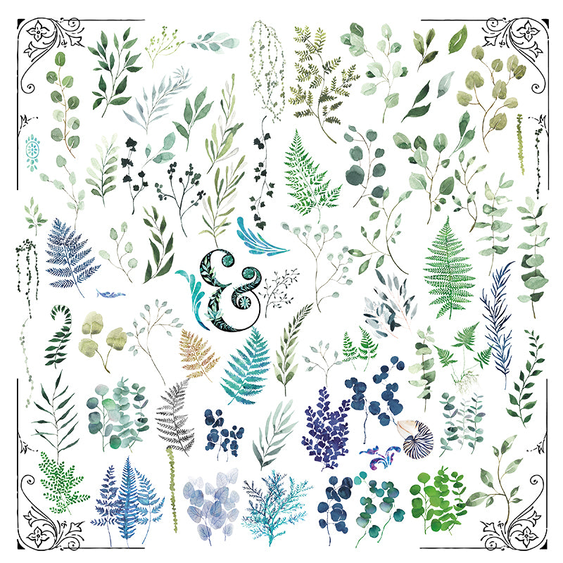 Leaves and Foliage Translucent Stickers Pack
