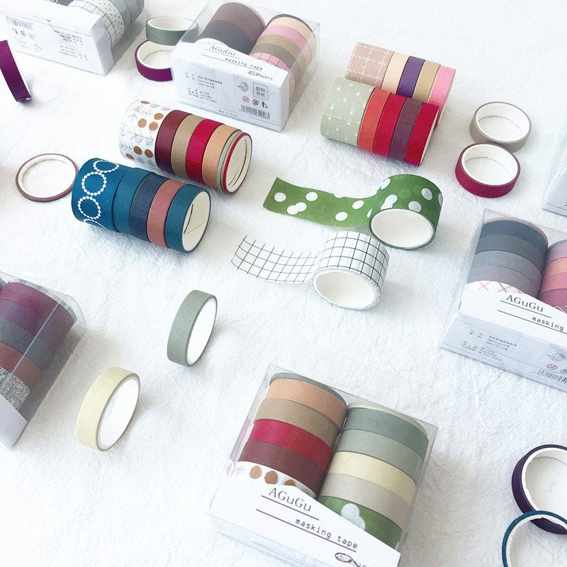 Assorted Colors Washi Tape Set