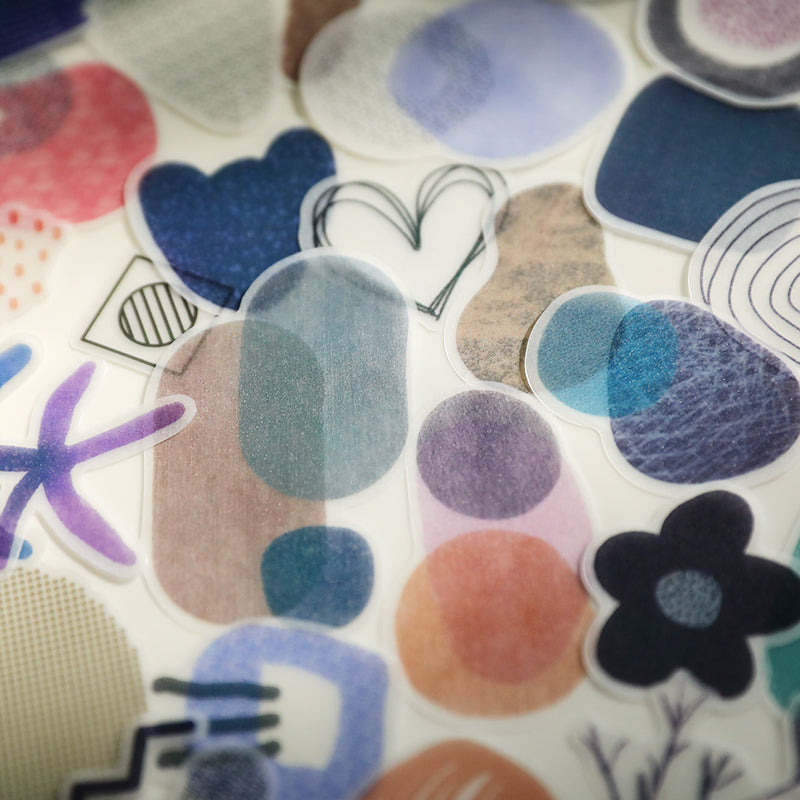 Shapes and Patterns Translucent Stickers Pack
