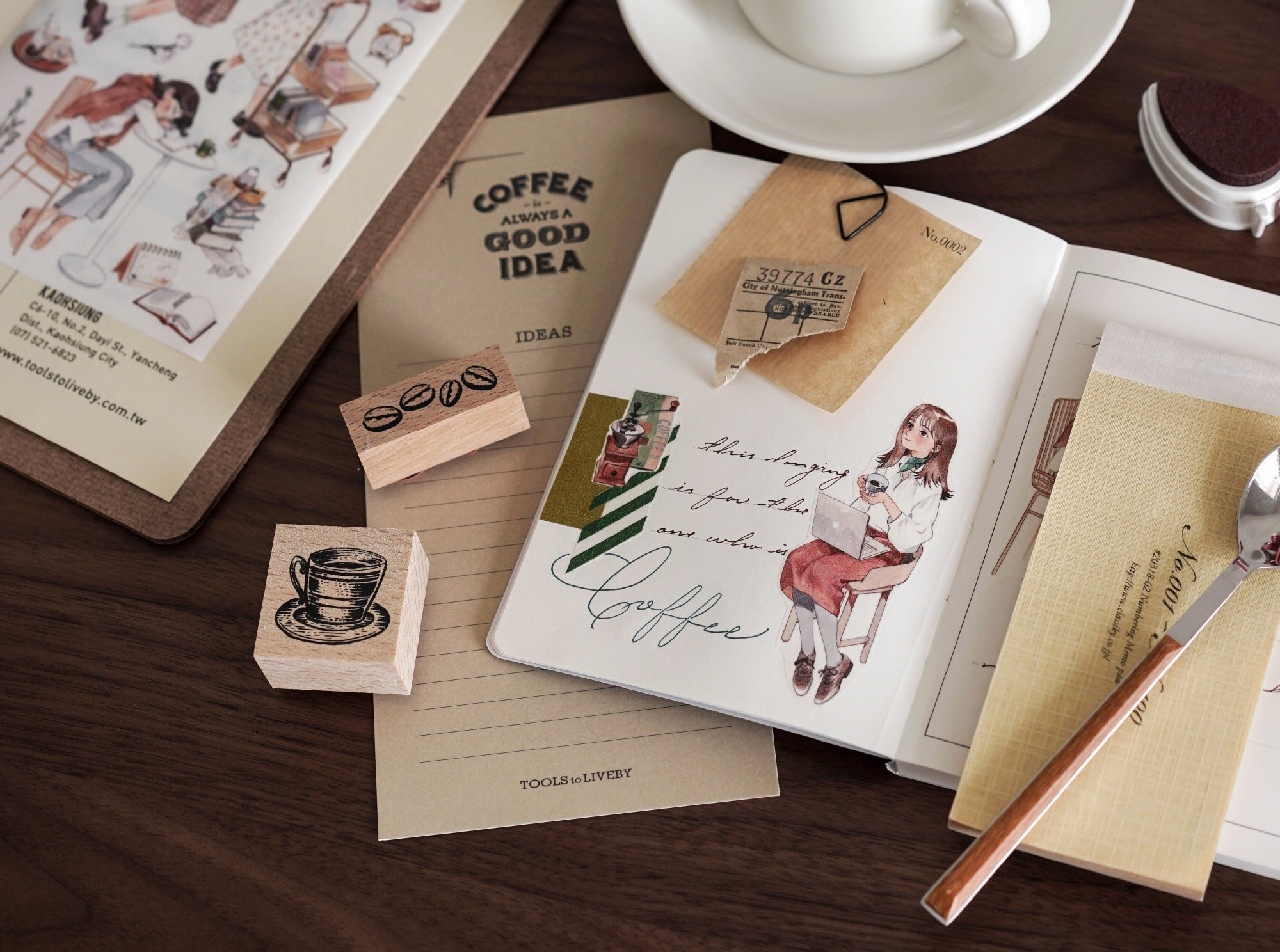 Talkness Studio Sticker Sheet: Coffee Date