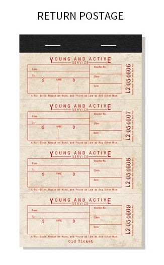 Vintage Tickets Paper Pad E