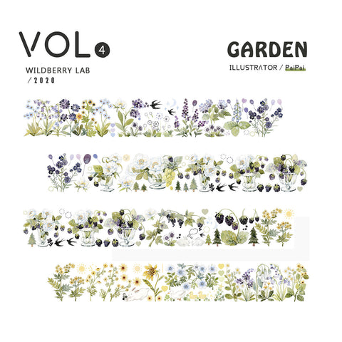 Wildberry Lab Clear Tape: Garden