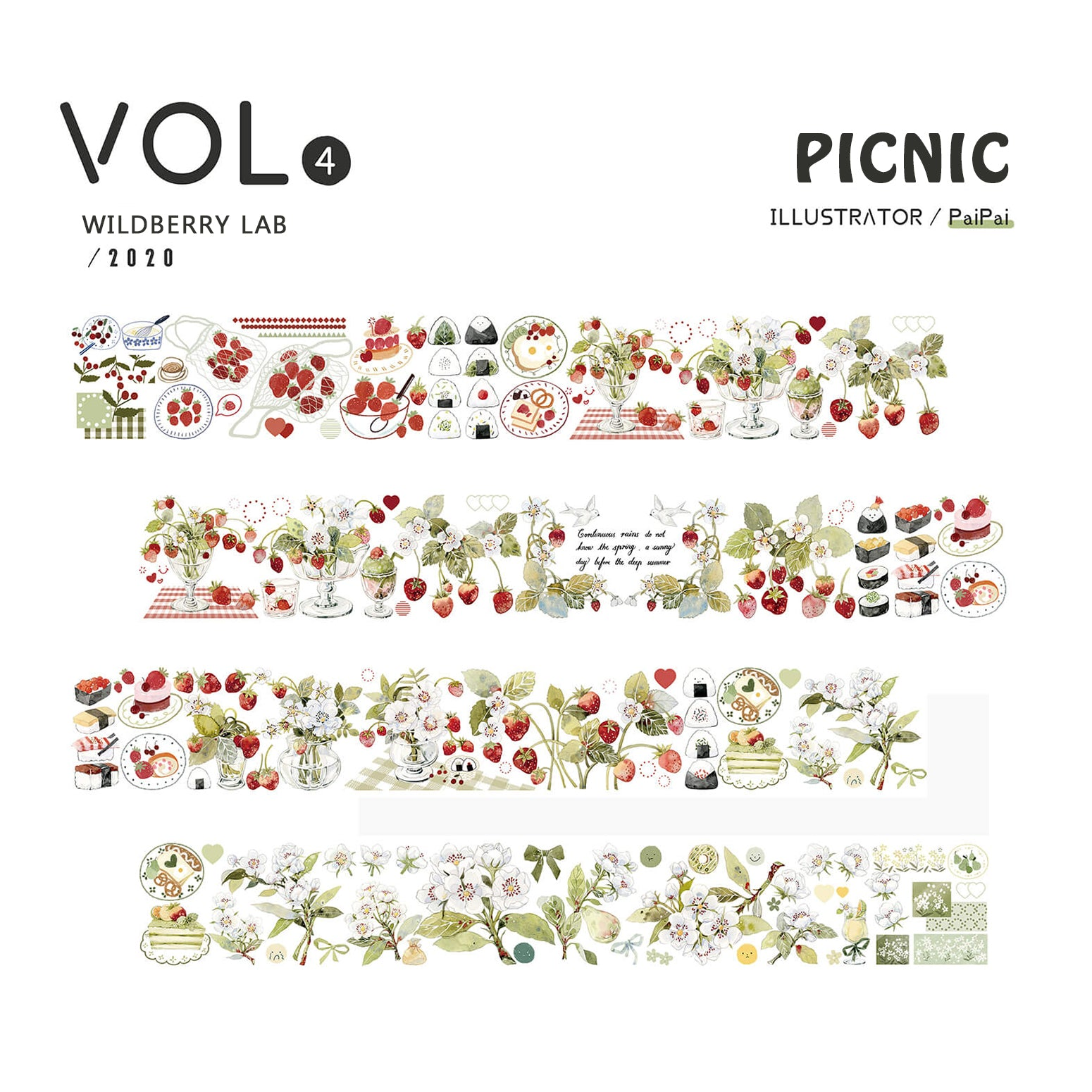 Wildberry Lab Clear Tape: Picnic