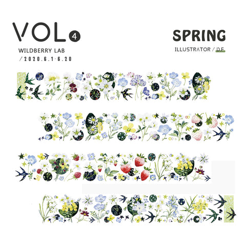 Wildberry Lab Clear Tape: Spring