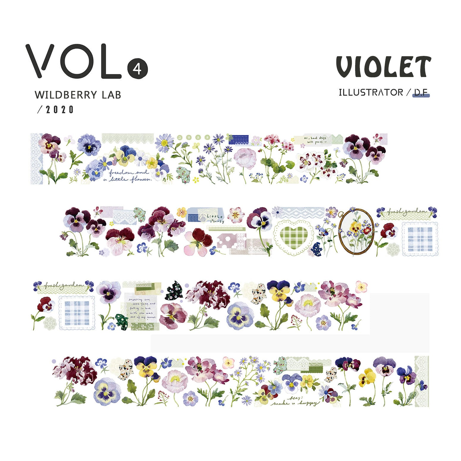 Wildberry Lab Clear Tape: Violet