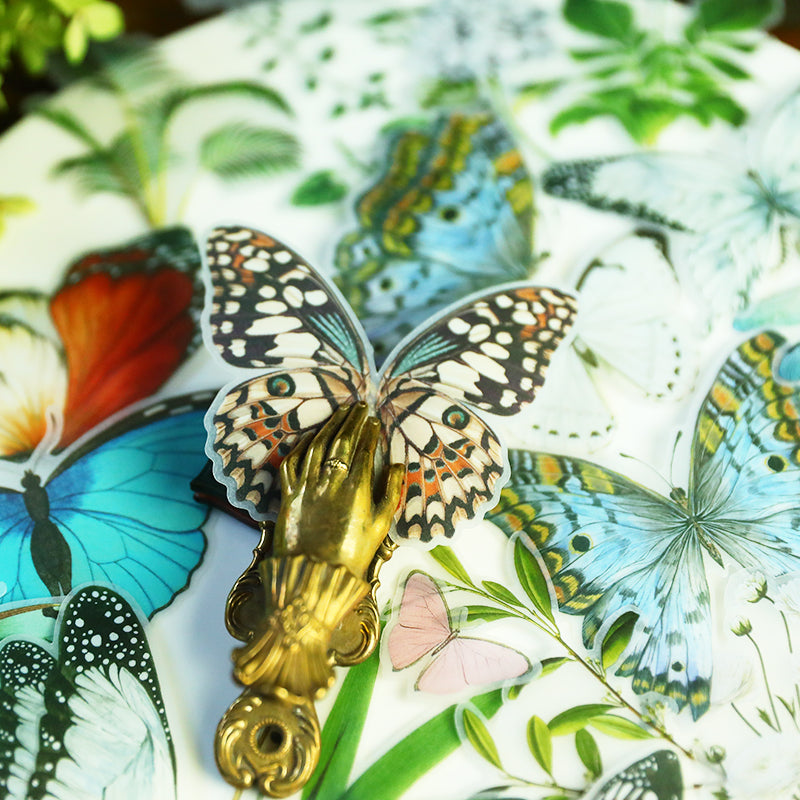 Large Translucent Butterfly Stickers