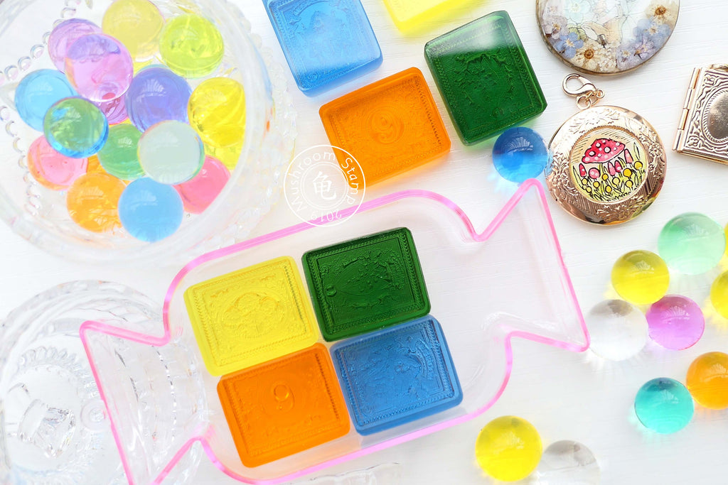 Acrylic Botany Gummy Stamps: Set of 4