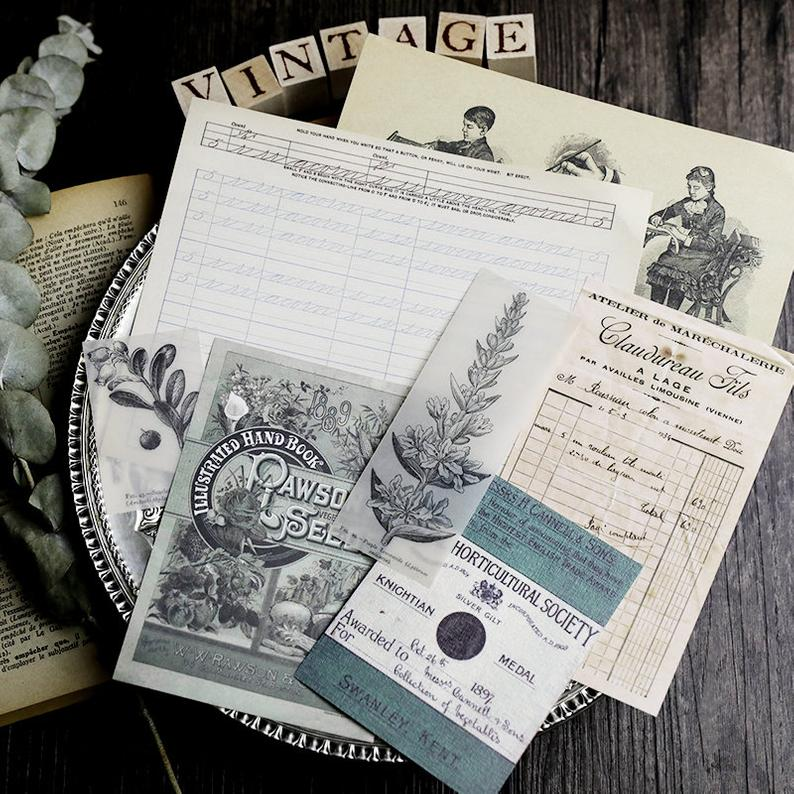 Junk Journal Ephemera Kit B