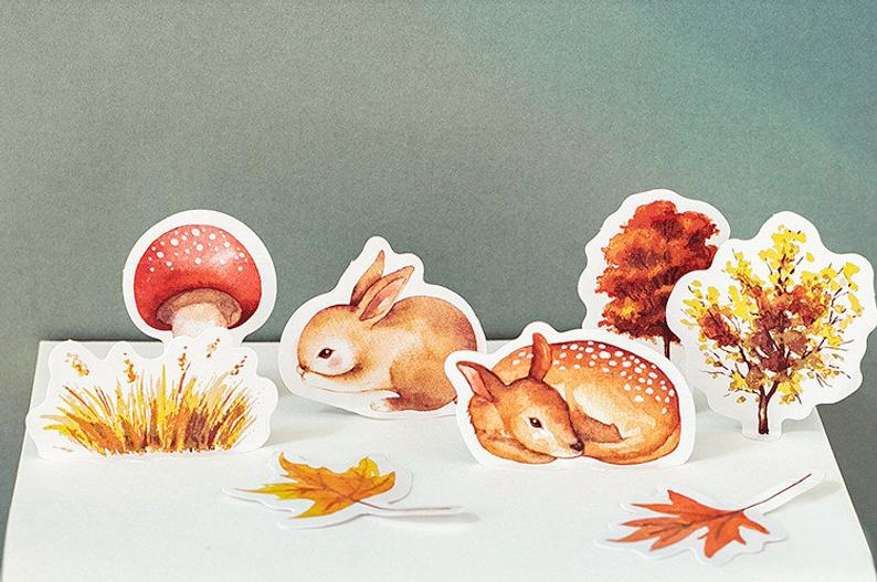 Forest Creatures Box Sticker Set