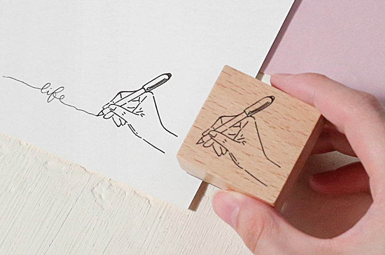 Stationery Tools Wooden Stamp