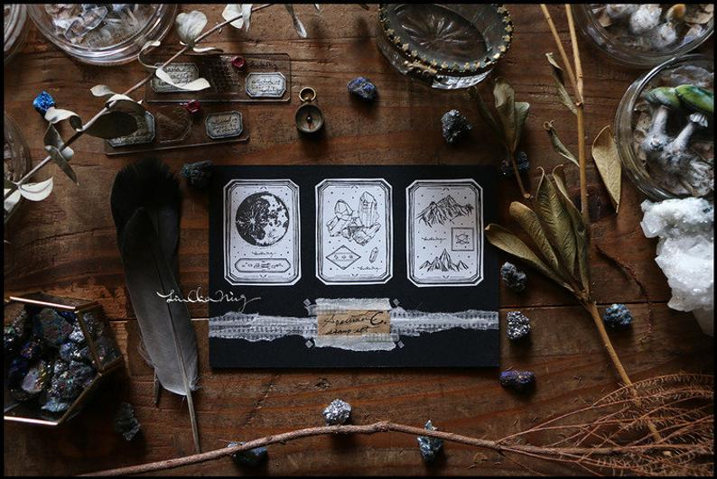 Specimen Wooden Stamps Set