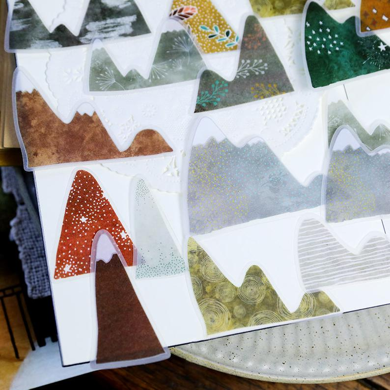 Translucent Mountain Stickers Pack