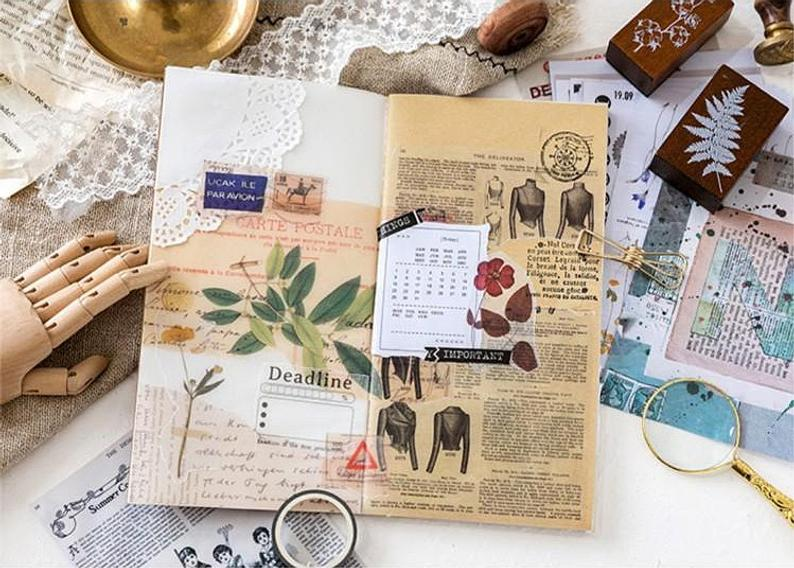 Translucent Decoupage Background Stickers