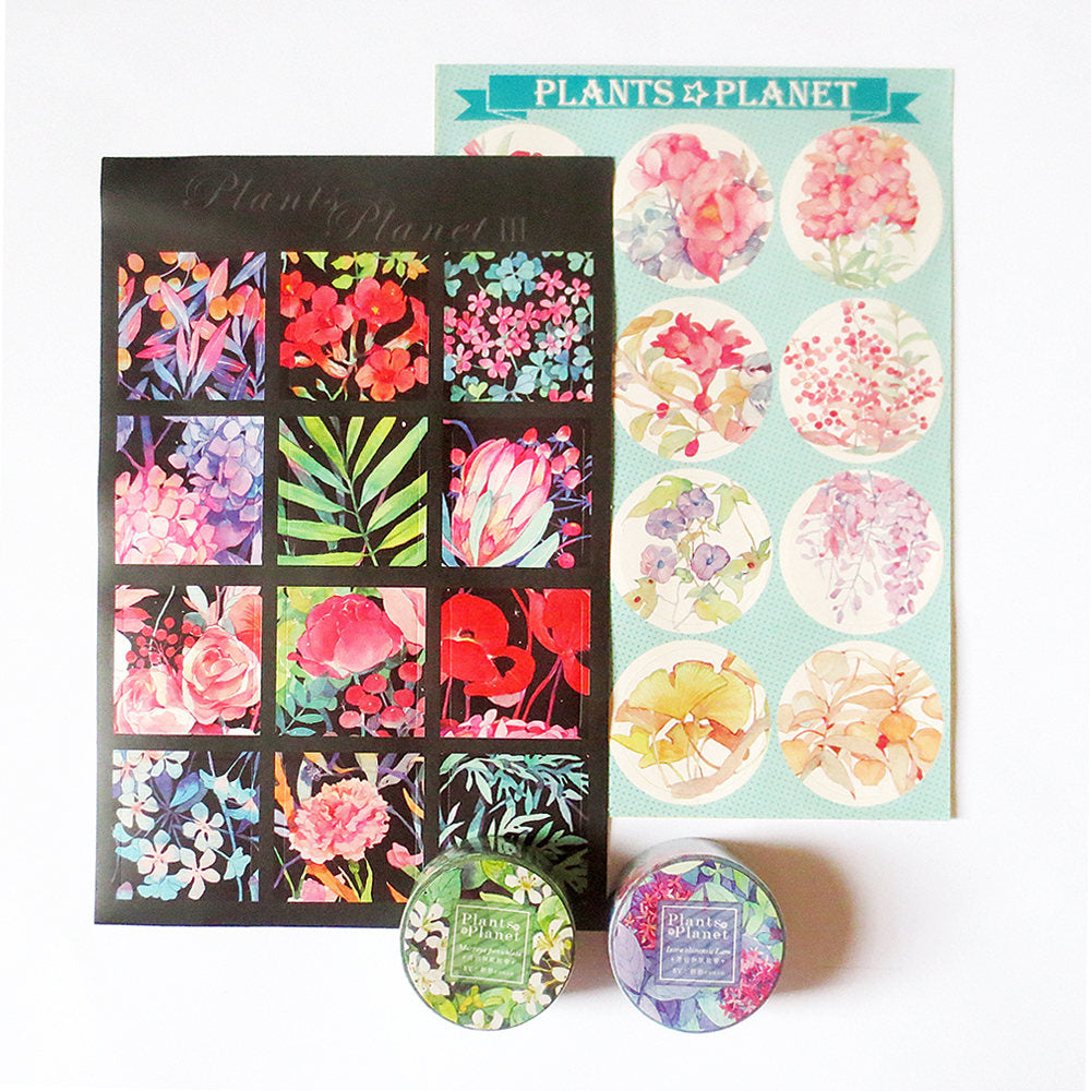 Plants Planet Washi Tape