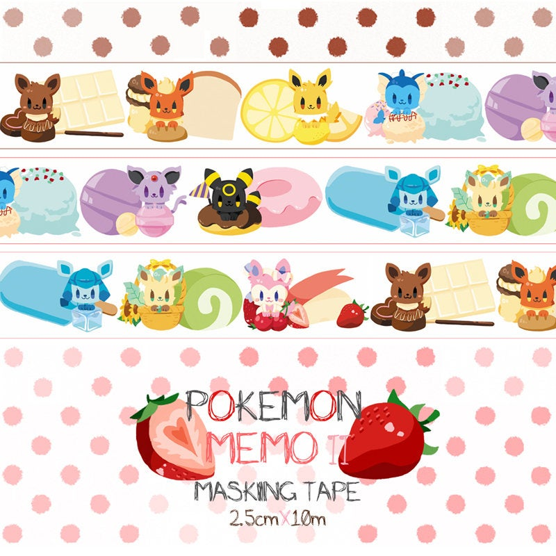 Pokemon Memo II Washi Tape