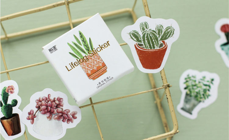 Plants Box Stickers Set