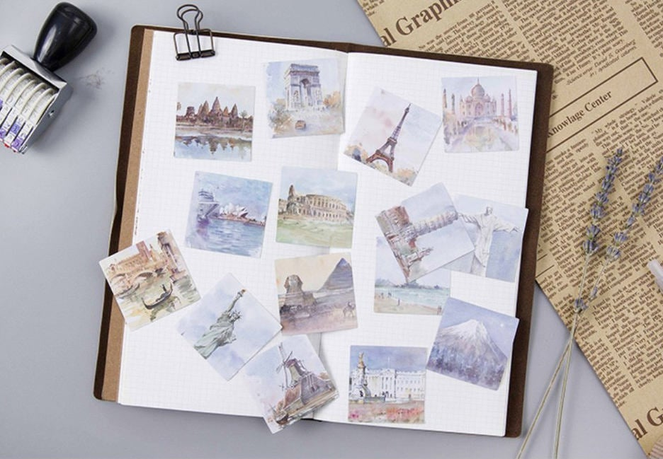 Travel Box Sticker Set