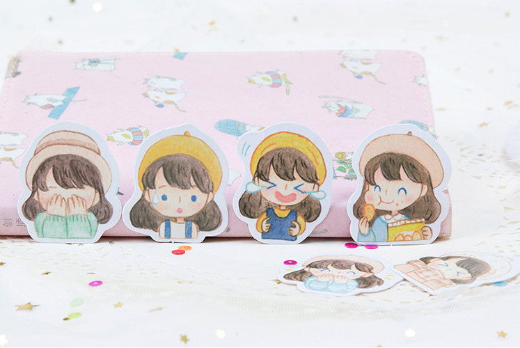 Girls Daily Life Box Sticker Set