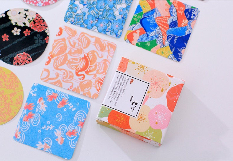 Japanese Pattern Box Stickers