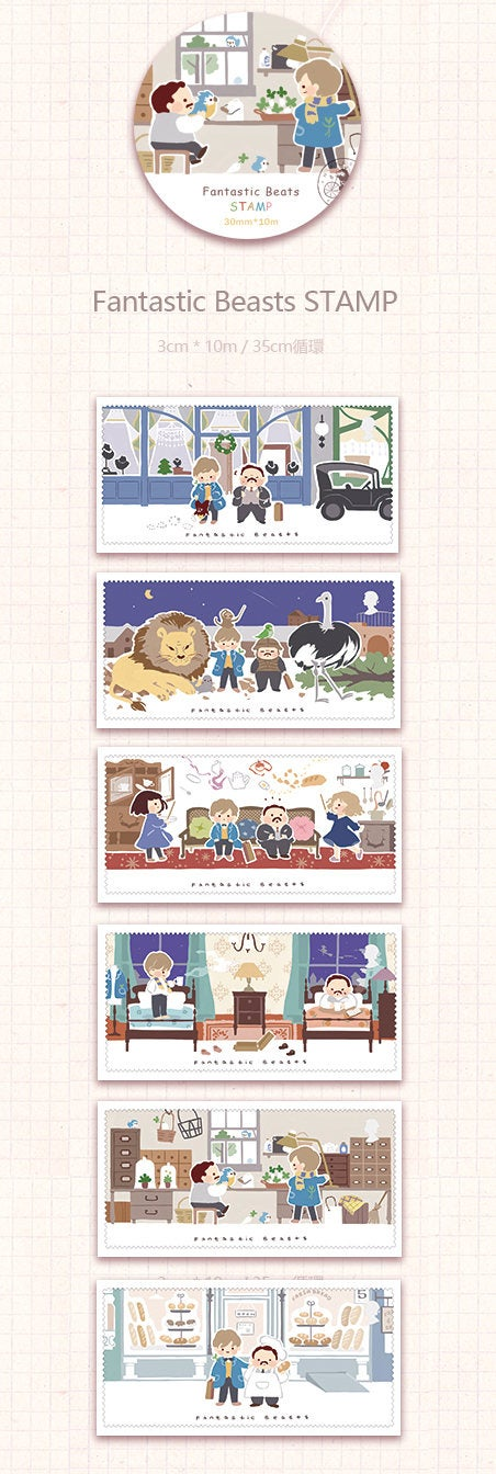 Fantastic Beasts Stamp Washi Tape