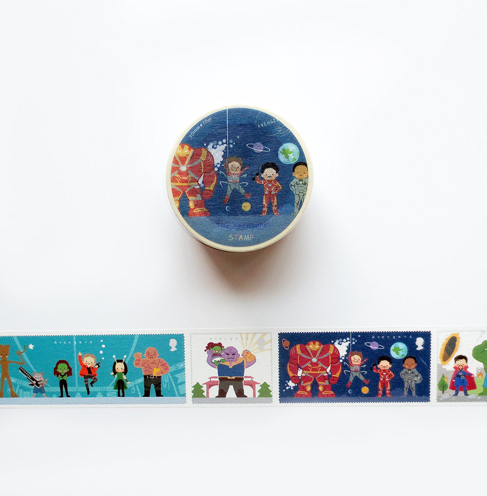 Avengers Stamps Washi Tape