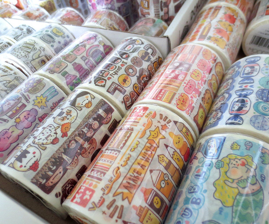 Meatball Color Research Lab 2 Series Washi Tape, Food, Daily Life, Food, Mermaid, Washi Tape, Unicorn Doodle Masking Tape, Deco Tape