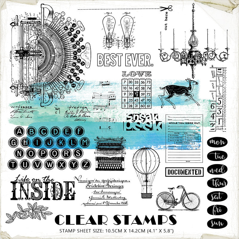 Vintage Journaling Acrylic Stamp A