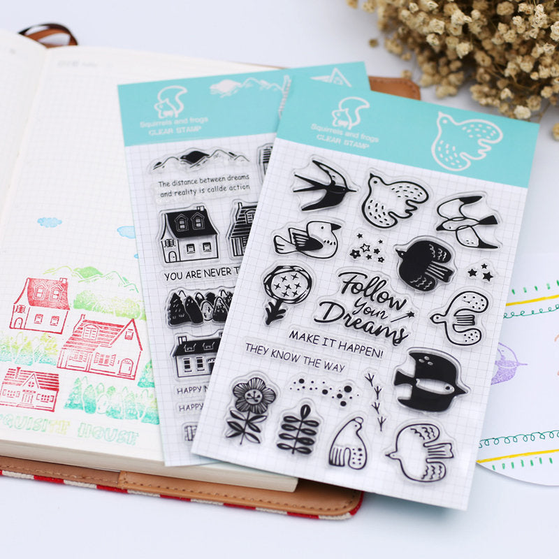 Assorted Acrylic Stamp Sheet