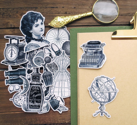 Vintage Objects Stickers Pack C