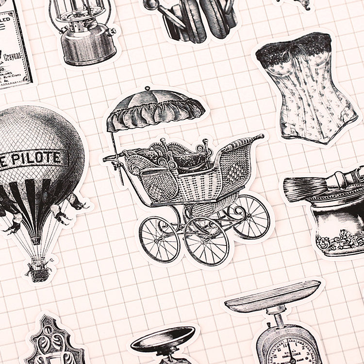 Vintage Objects Stickers Pack B