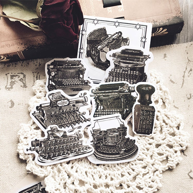 Typewriter Stickers Pack