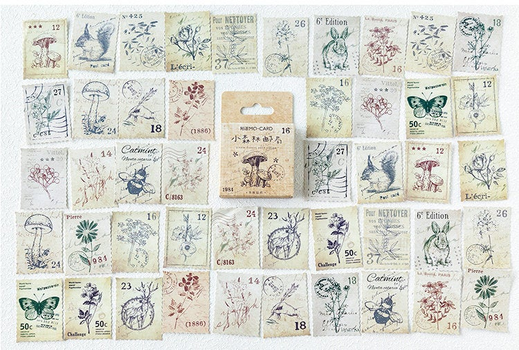 Forest Stamps Box Sticker Set