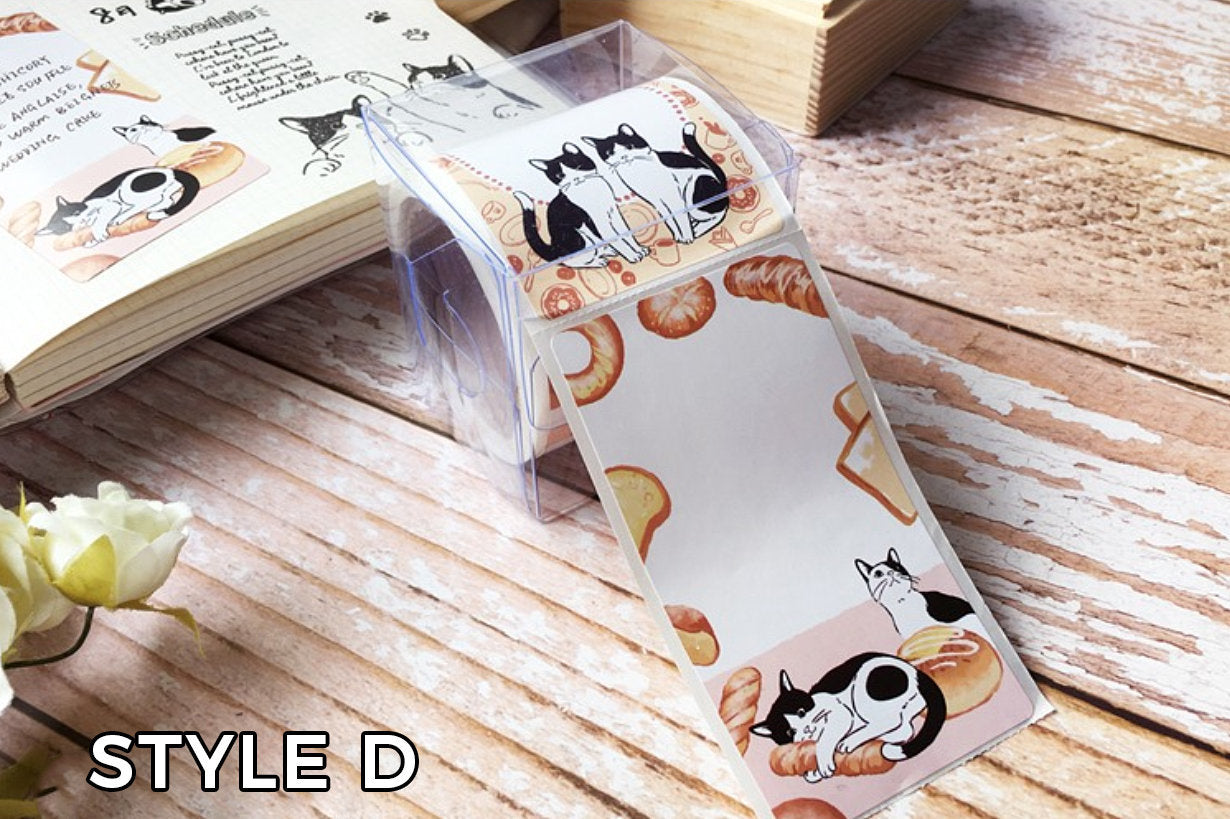 Frolicking Cats Sticker Label Roll