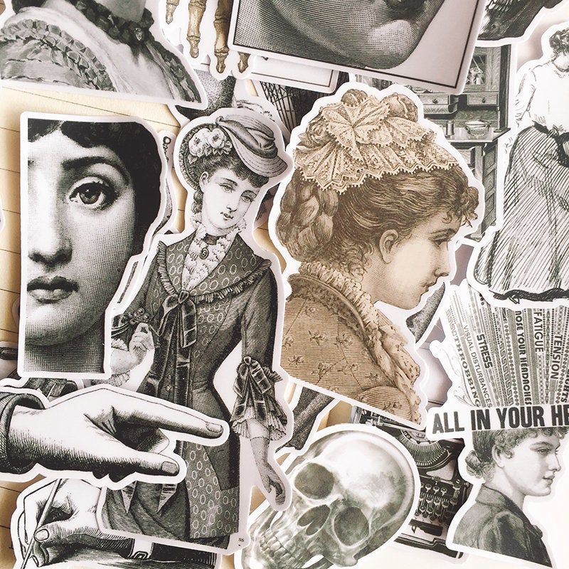 Vintage Illustrations Stickers Pack