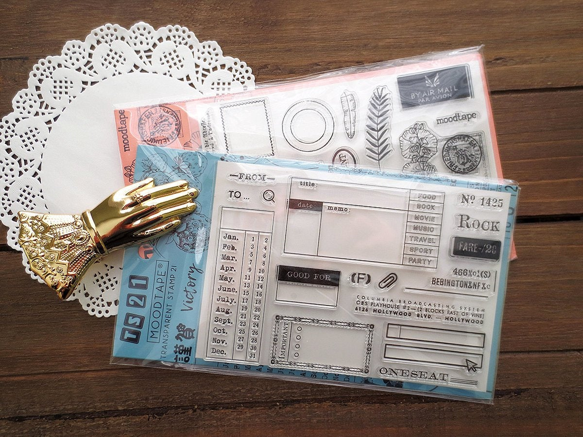 Postcard & Bill Acrylic Stamp Set