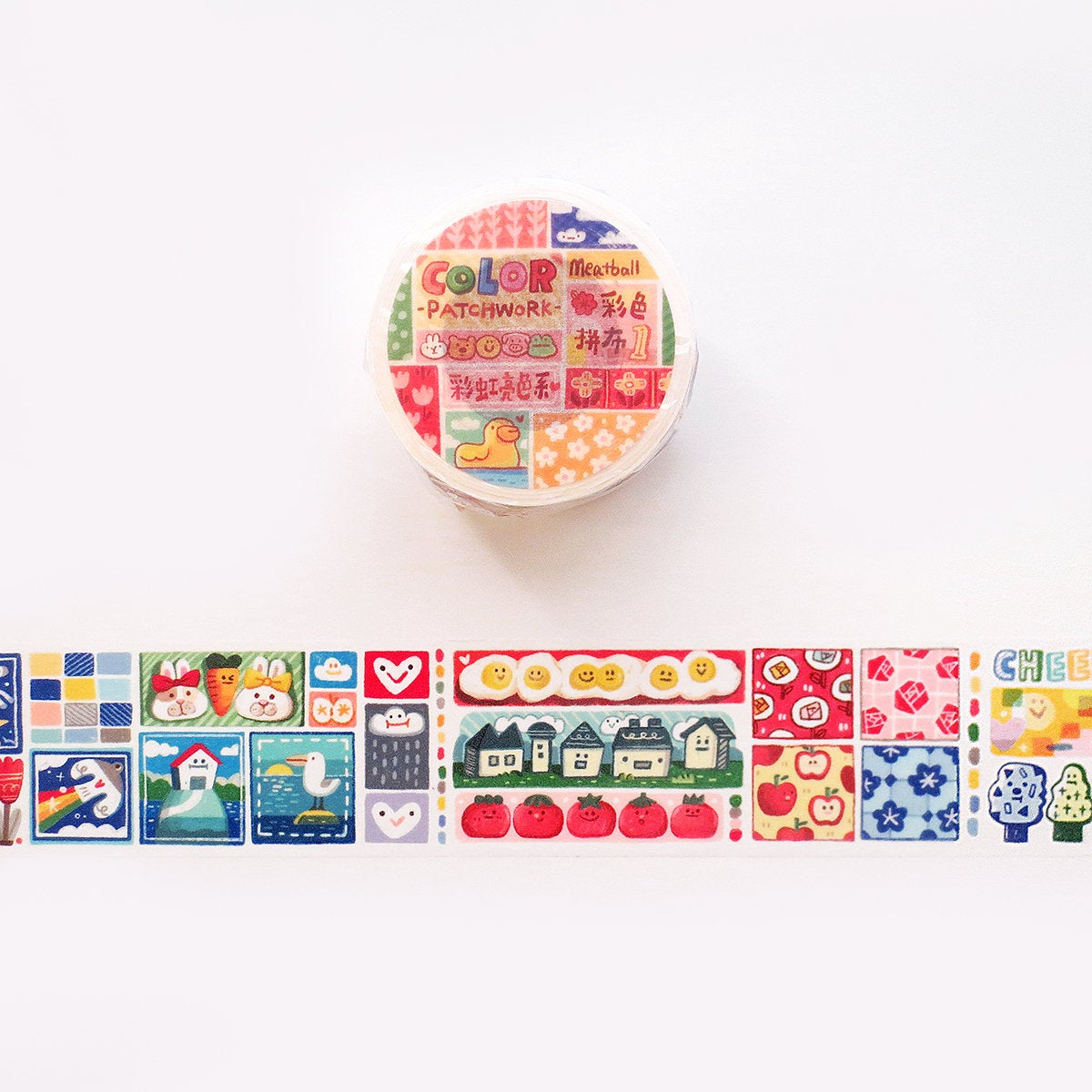 Meatball Washi Tape: Color Patchwork