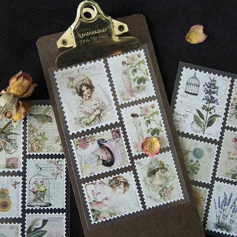 Vintage Stamp Stickers Sheets
