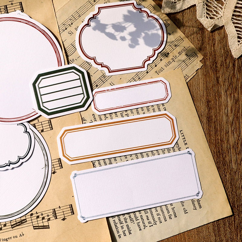 Vintage Labels Stickers Pack