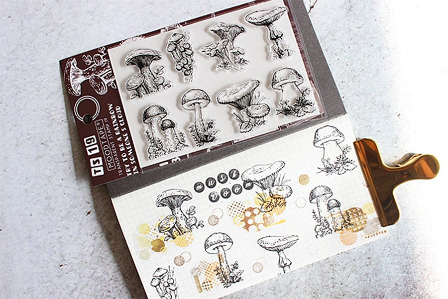 Butterflies and Mushrooms Acrylic Stamp Set