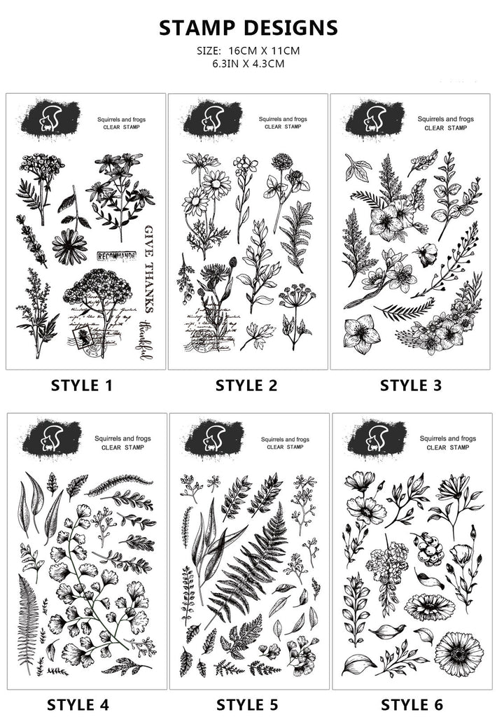 Assorted Flower Acrylic Stamp Sheet