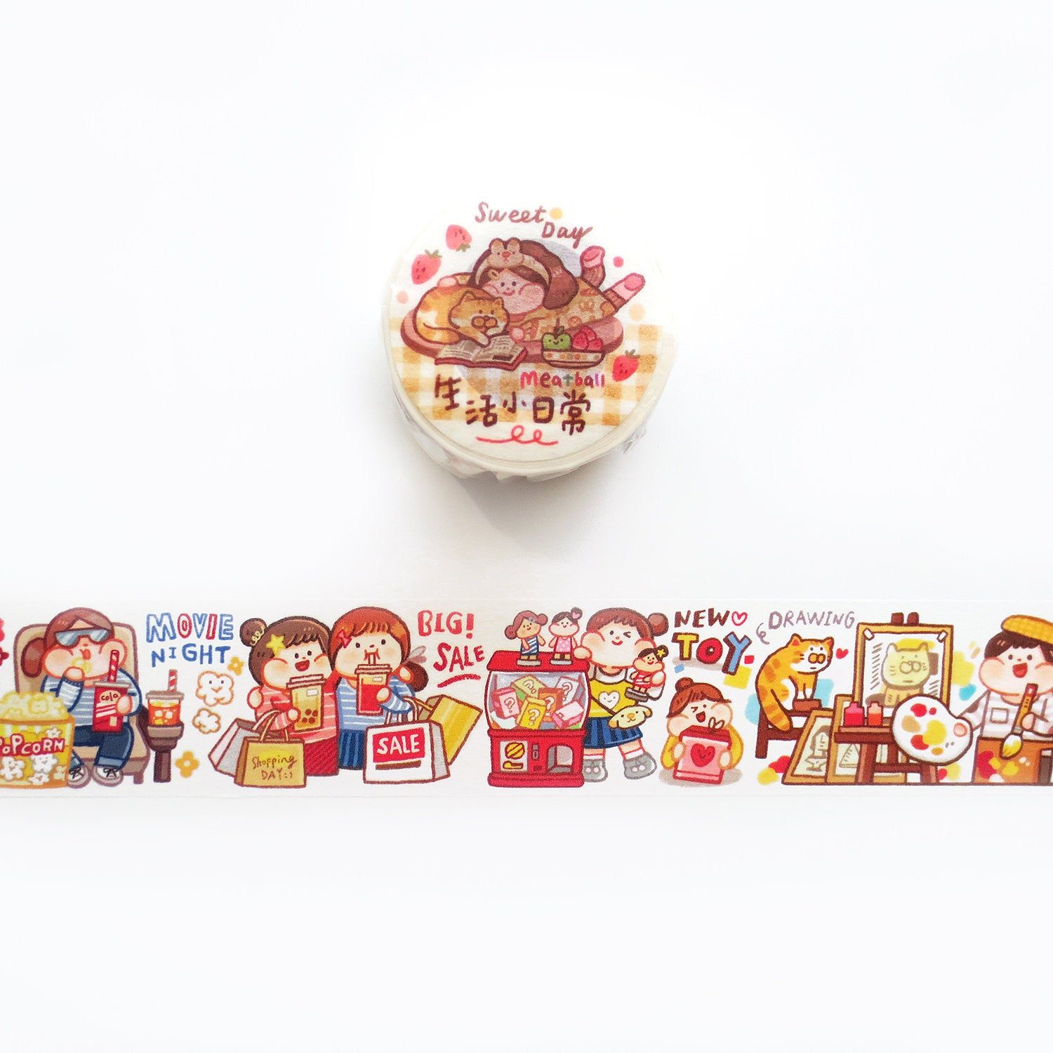 Meatball Washi Tape: Sweet Day