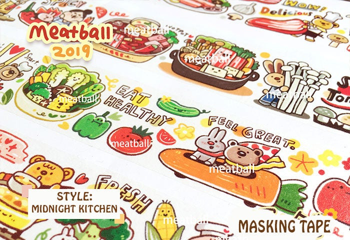 Meatball Washi Tape: Midnight Kitchen